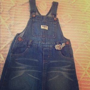 Oshkosh Overall Jean Denim Dress 5T